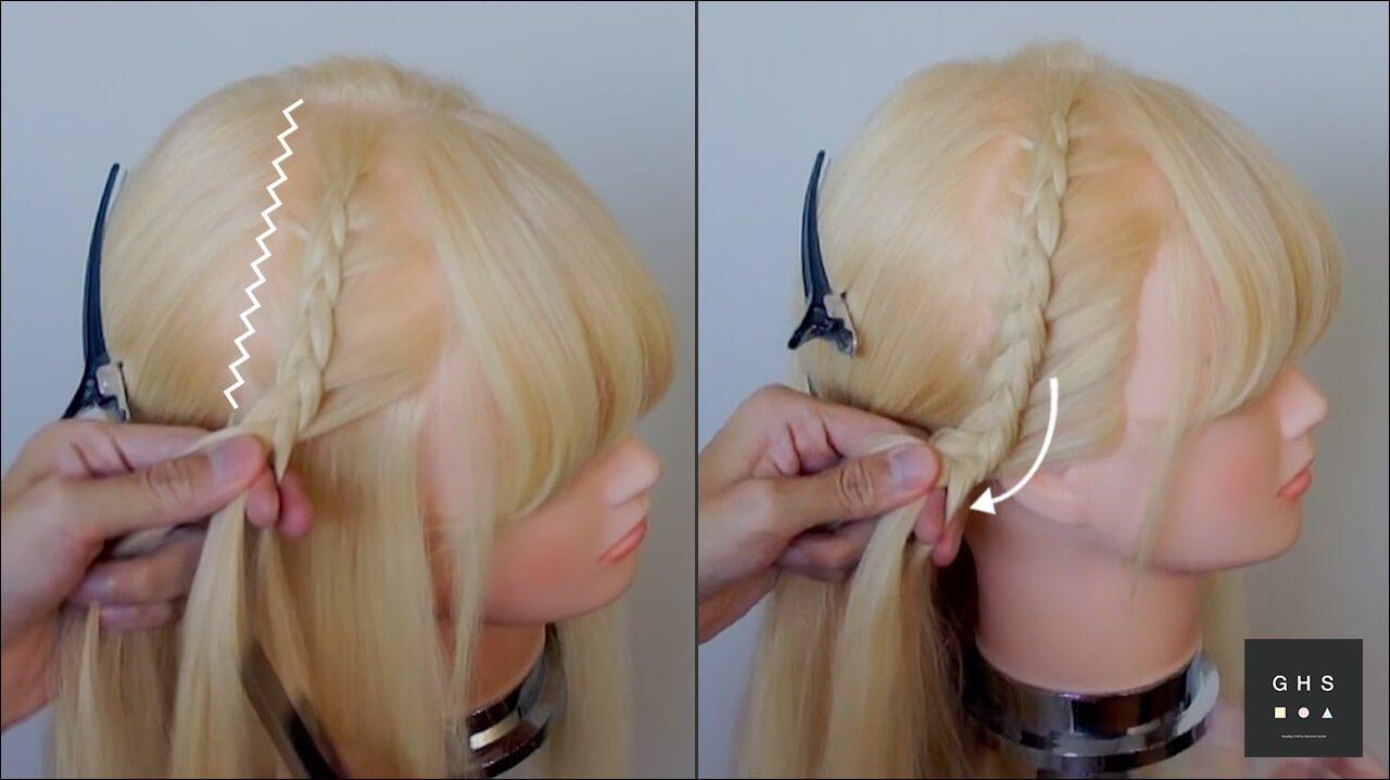 編み込み ストレートヘアアレンジ やり方