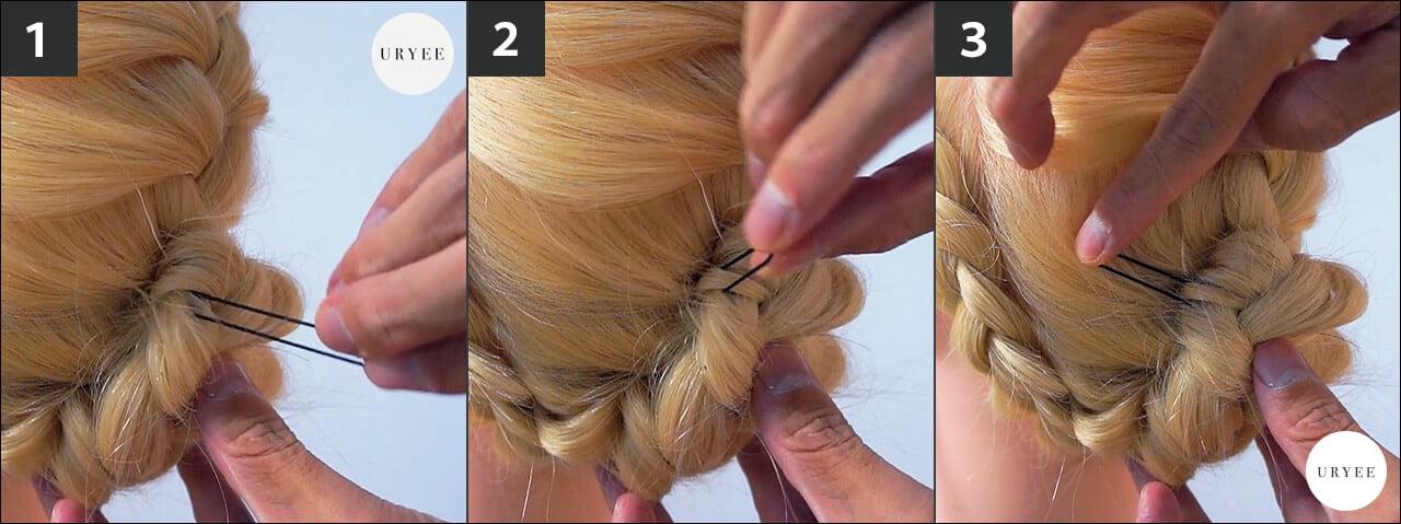 まとめ髪 Uピン 使い方