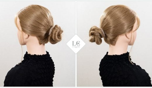 仕事のプレゼン髪型|ゴムだけでキッチリ簡単!低めお団子ヘアの作り方