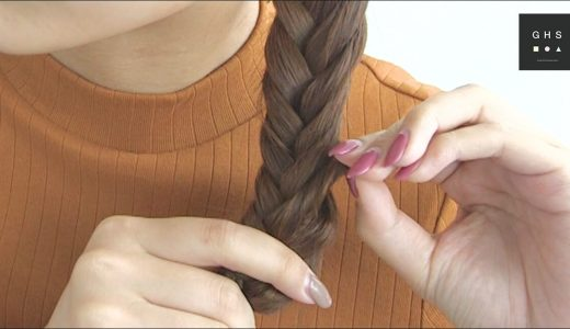 フィッシュボーン|自分の髪で編み込みするやり方