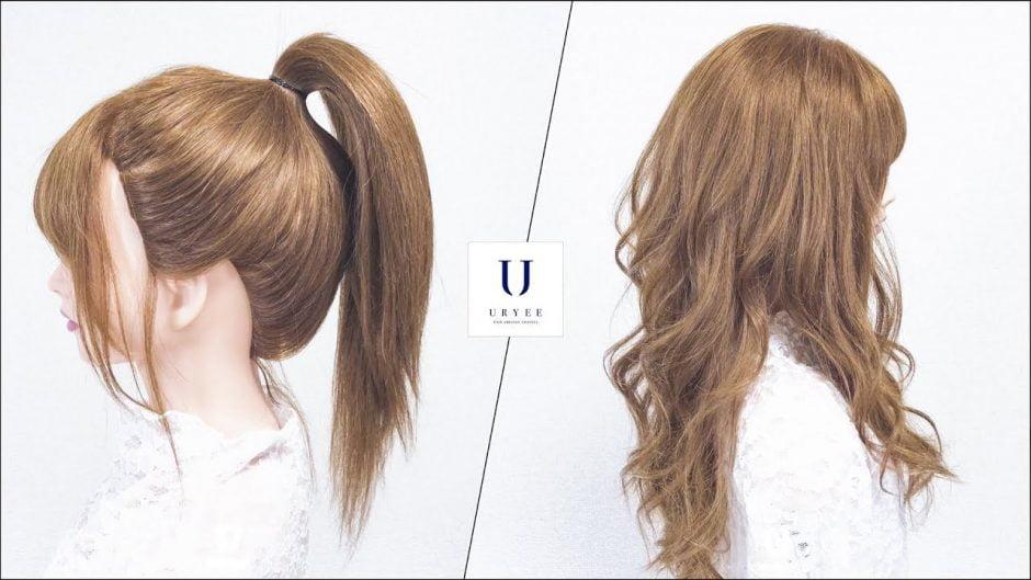 ポニーテール ツインテール 簡単 巻き髪 巻き方