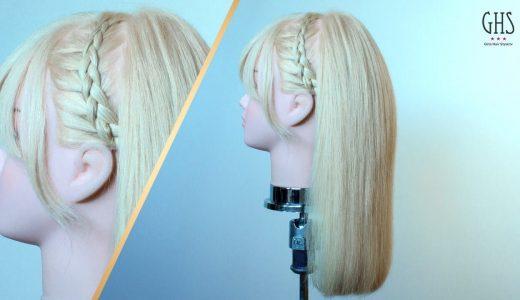 【清楚に髪をなびかせる】ストレート編み込みアレンジのやり方