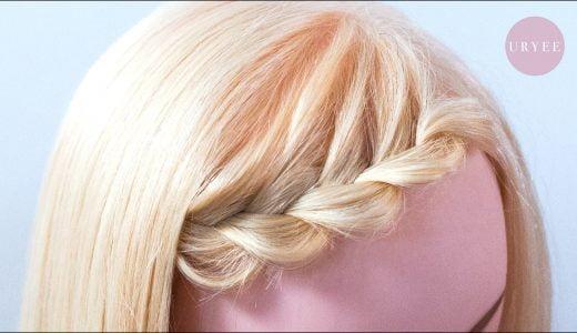伸ばしかけの中途半端な前髪を片編み込みでスッキリさせるアレンジのやり方