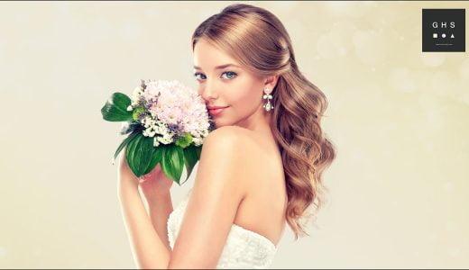 結婚式の髪型を自分で艶やかにつくるロングヘアアレンジ 15選