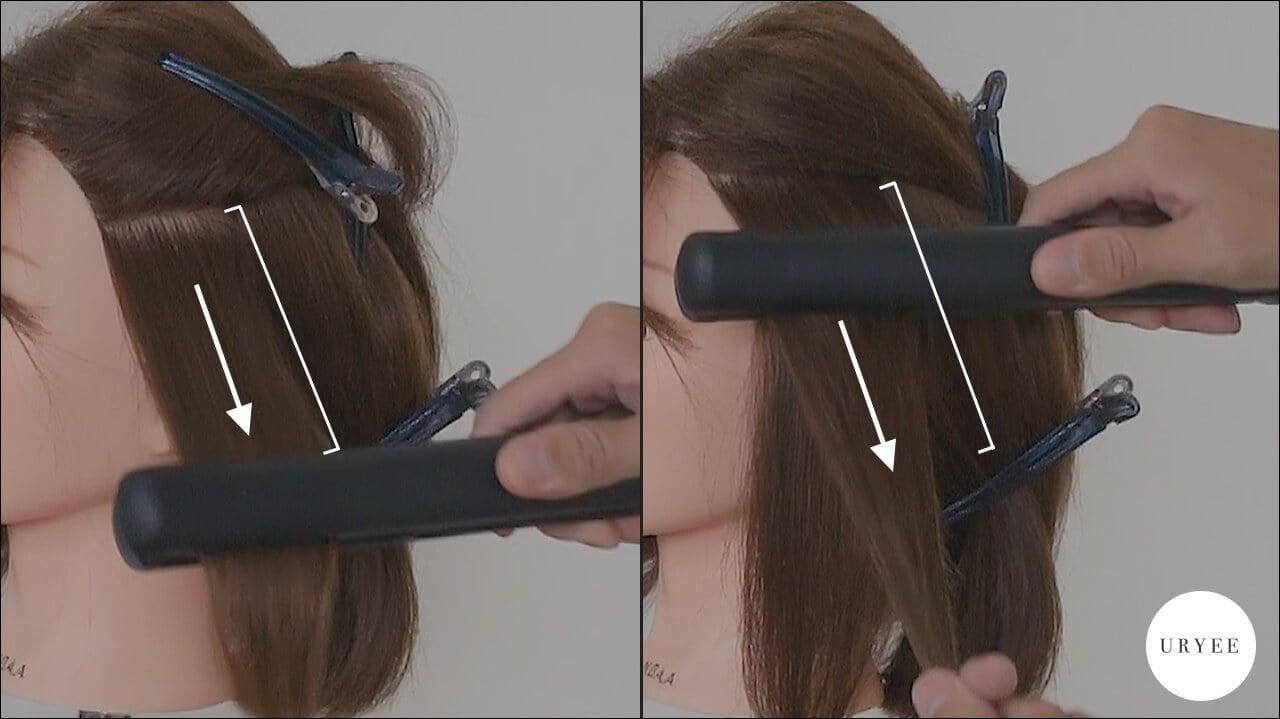 ツヤ髪 外ハネボブ ストレートアイロン 巻き方